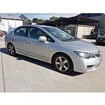 9/2010 Honda City Vti-l GM 4d Sedan Silver 1.5L