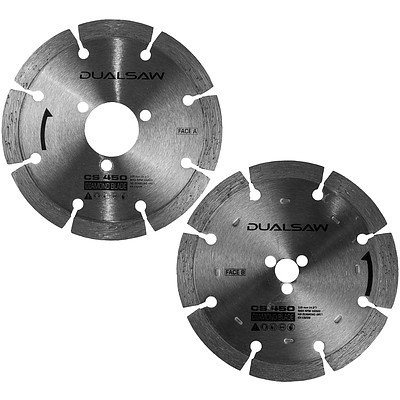 25 Sets of 115mm Dual Saw Stone Cut Diamond Blades to Suit CS 450 Multipurpose Saw -Brand New - RRP $500.00