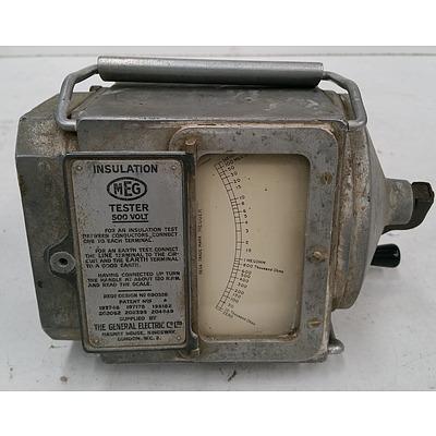Vintage MEG 500 Volt Insulation Tester