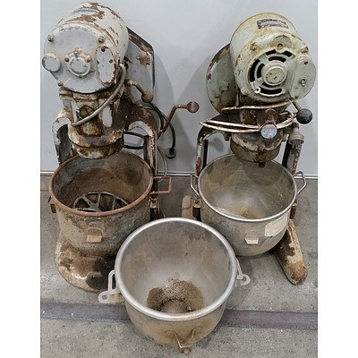 Vintage Brice and Hobart Planetary Dough Mixers - Lot of Two