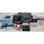 Batteries, Electrical Voltage Chargers, Measuring and Regulating Equipment - Lot of 12 - New