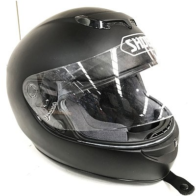 Shoei TZ-R Black Motorcycle Helmet - Brand New