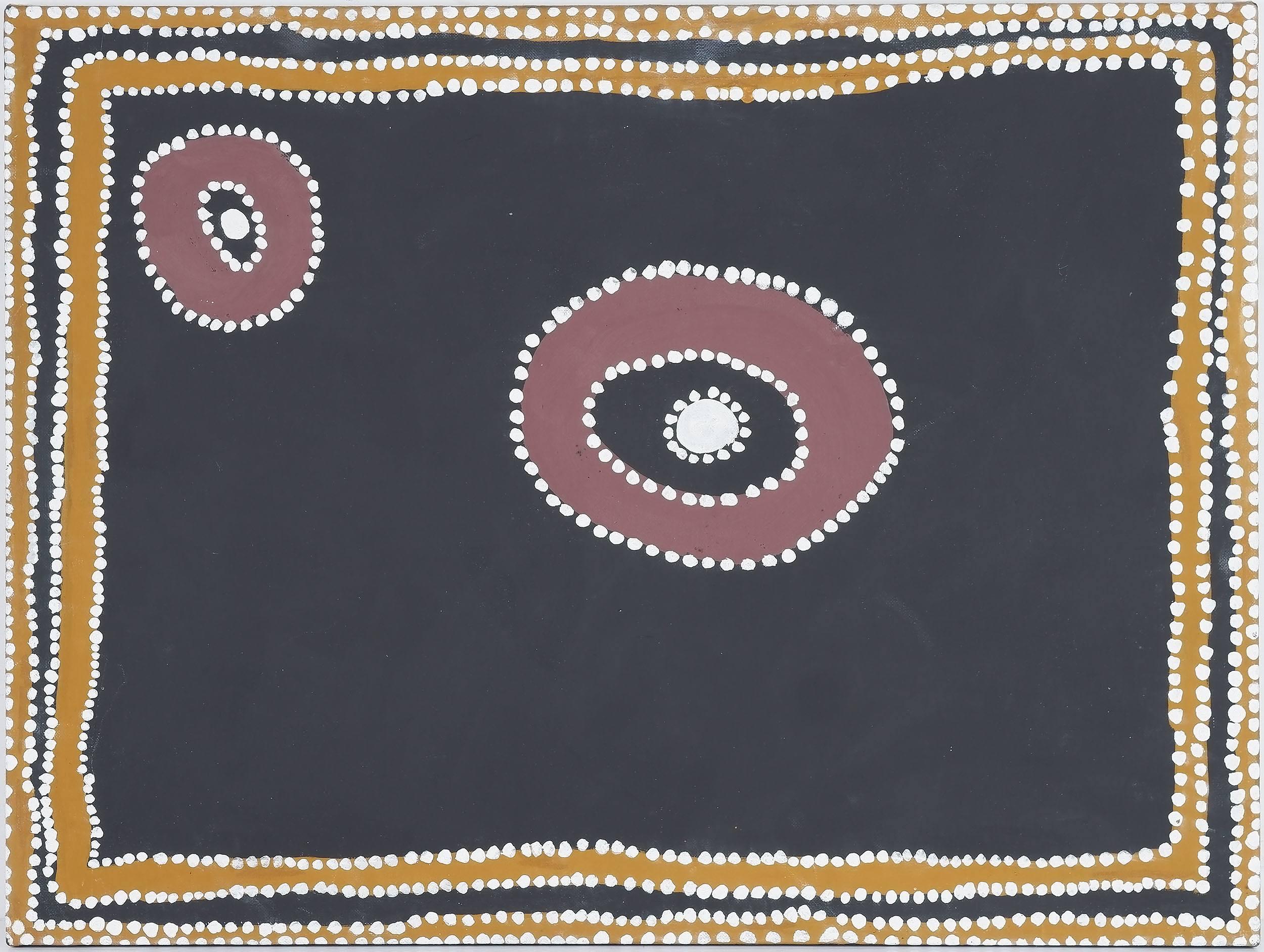 'Rover Thomas (c.1926-1998) Warmun (Turkey Creek) WA 1995, Natural Earth Pigments on Canvas'