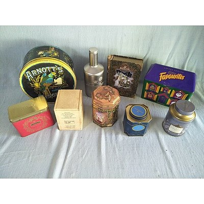Assorted decorative tins