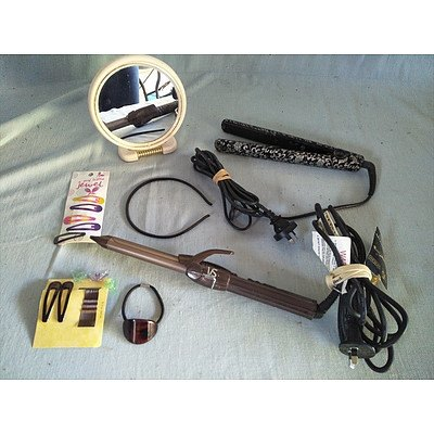 Assorted hair appliances and accessories