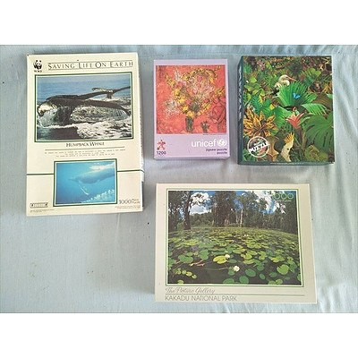 4 x jigsaw puzzles (500-1200 pieces)