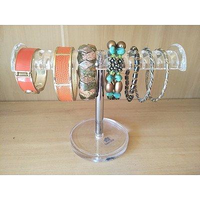 Casa Mia Bracelet stand and assorted bracelets
