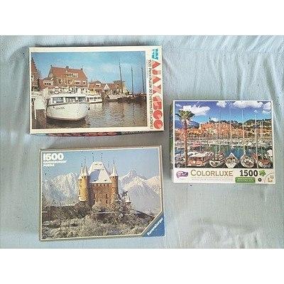 3 x 1500 piece jigsaw puzzles