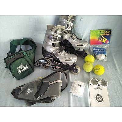 Assorted sporting items