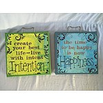 Canvas Art x 2: Happiness and Intention