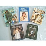 Royal Family Books: Prince Charles, Prince William and Prince Andrew (Qty: 5)