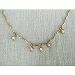 Vintage Sarah Cov - Canada - gold necklace with pearls