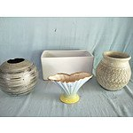 Assorted ceramic planters, pots and vase