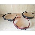 3 pairs of Polaroid sunglasses