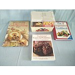 Assorted cookbooks and recipe cards