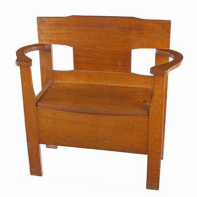 Oak Hall Seat, Early 20th Century