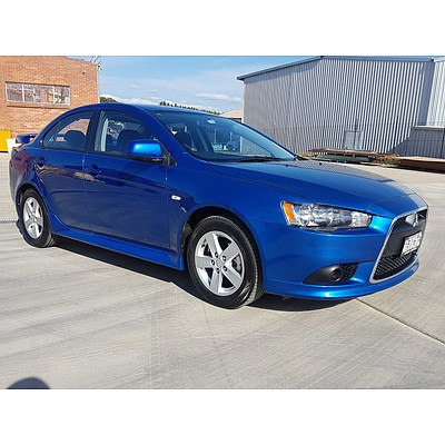 5/2014 Mitsubishi Lancer ES Sport CJ MY14.5 4d Sedan Blue 2.0L