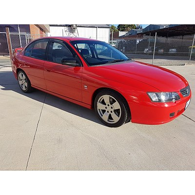 4/2003 Holden Commodore SV8 VY 4d Sedan Red 5.7L