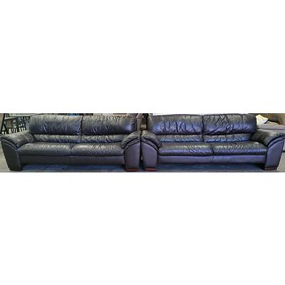 Leather World Two Piece Leather Lounge Suite