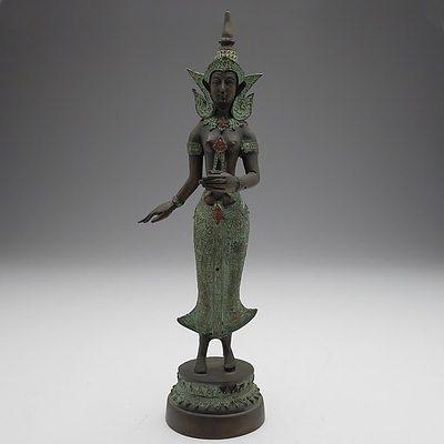 Reproduction Cast Metal Asian Statuette