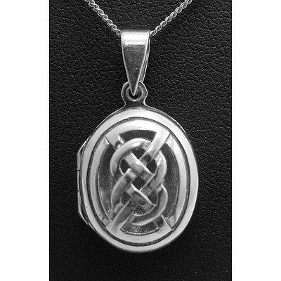 Sterling Silver Celtic Design Locket