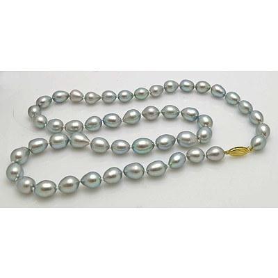 Silver-Black Pearl Necklace