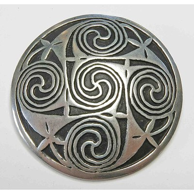 Celtic Pewter Brooch