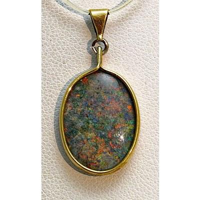 Andamooka Matrix Opal Pendant
