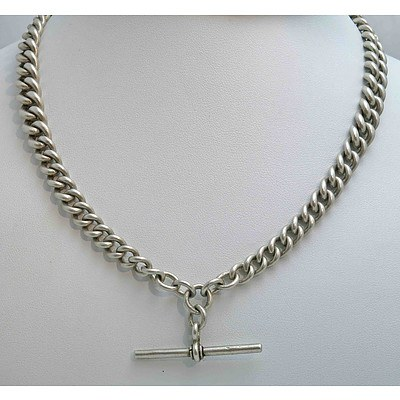 Vintage Sterling Silver Albert Chain