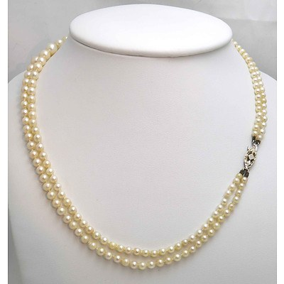 Vintage Double strand Cultured Pearls