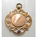 9ct Gold Fob Medallion