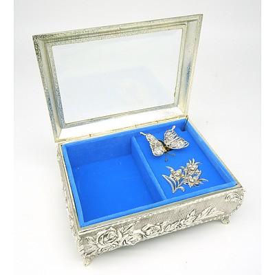 Decorative Butterfly Jewellery Box