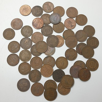 Group of Australian Half Pennies 1911-1960