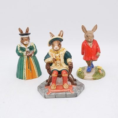 Three Royal Doulton Bunnykins Figures Including Henry VIII, Harry and Catherine Parr