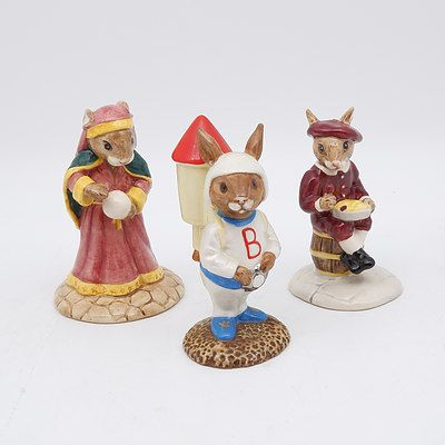 Three Royal Doulton Bunnykins Figures Including Rocket Man, Fortune Teller and Little Jack Horner