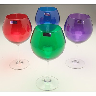 Four Marquis by Waterford Ballooned Wine Glasses