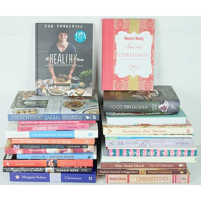 Group of Cookbooks Including French Food Safari, Food Britannia, Fast Ed's Dinner In 10