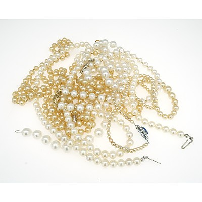 Various Imitation Pearl Necklaces, Bracelets and More