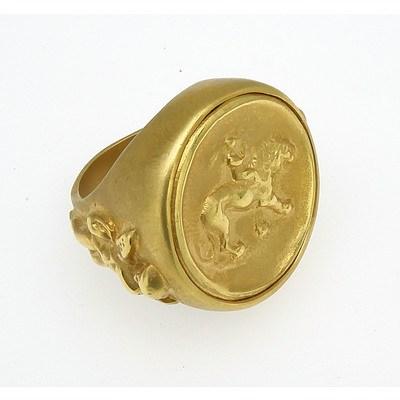 Brass Gents Signet Ring