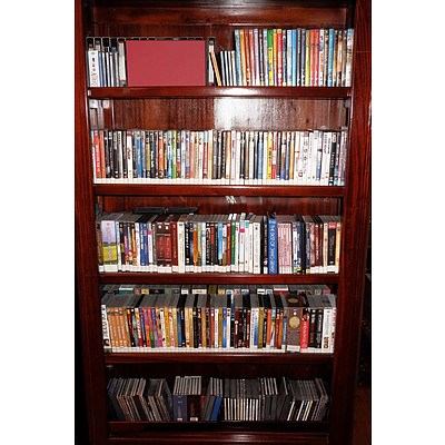 Large Collection of DVD'S and CD'S Being The Contents of One Bookcase