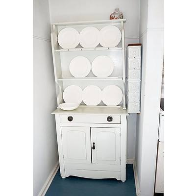 Antique Painted Pine Kitchen Dresser