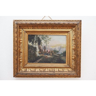 19th Century Australian School, Oil On Canvas, Original Frame, Apparently Unsigned