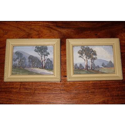 William L Slack (C1876-1949) A Pair of Small Watercolours