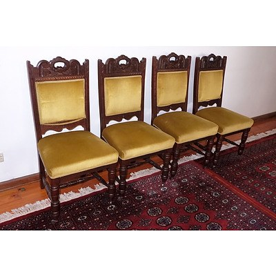 Set of Four Edwardian Tasmanian Blackwood Chairs Circa 1910