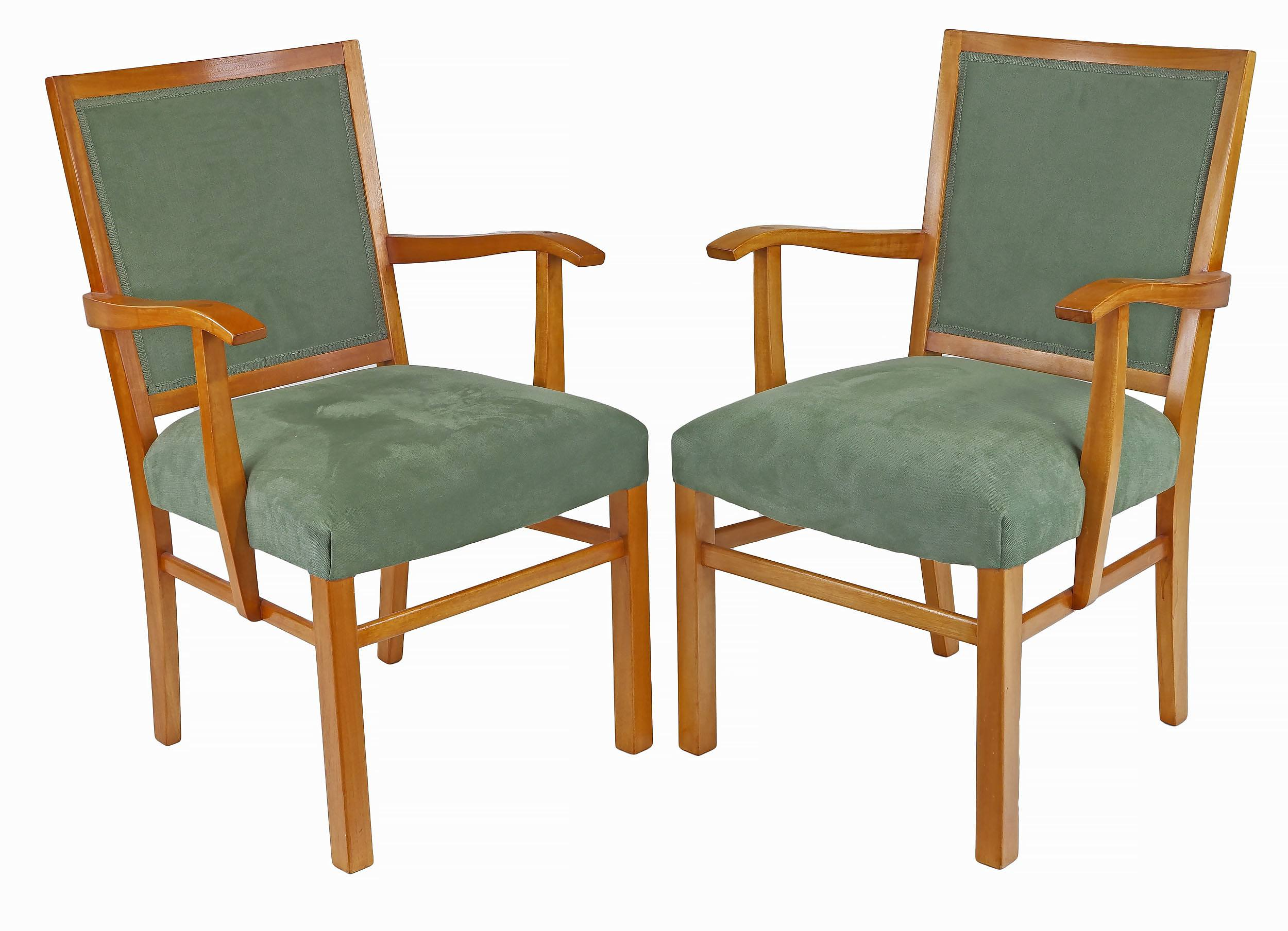 'Two Fred Ward Maple Armchairs'