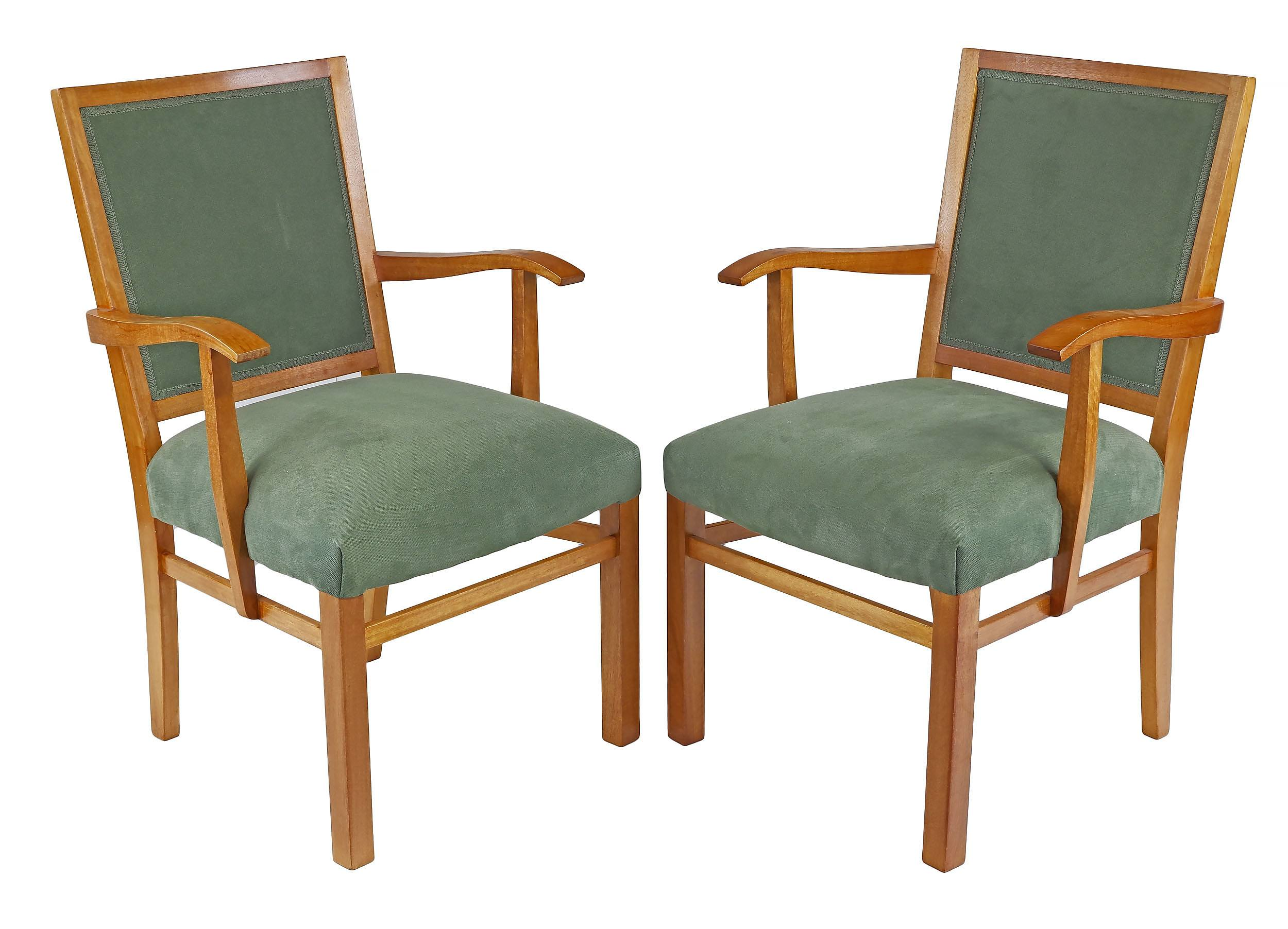 'Pair of Fred Ward Maple Armchairs'