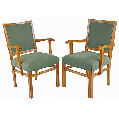 Two Fred Ward Maple Armchairs