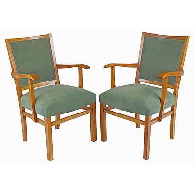 Pair of Fred Ward Maple Armchairs