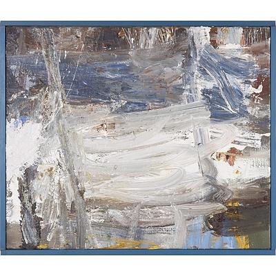 Carl Sutherland (1962-) Grey Tornado 1993, Oil on Board