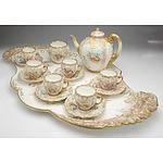 Substantial Late Victorian Doulton Burslem Hand Painted Tea Service for Six, C3562,  Circa 1889